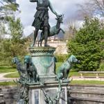 Statue Diane à la biche - Château de Fontainebleau