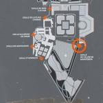 Plan des extérieurs du château de Fontainebleau