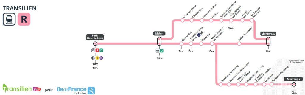 Plan Transilien ligne R SNCF