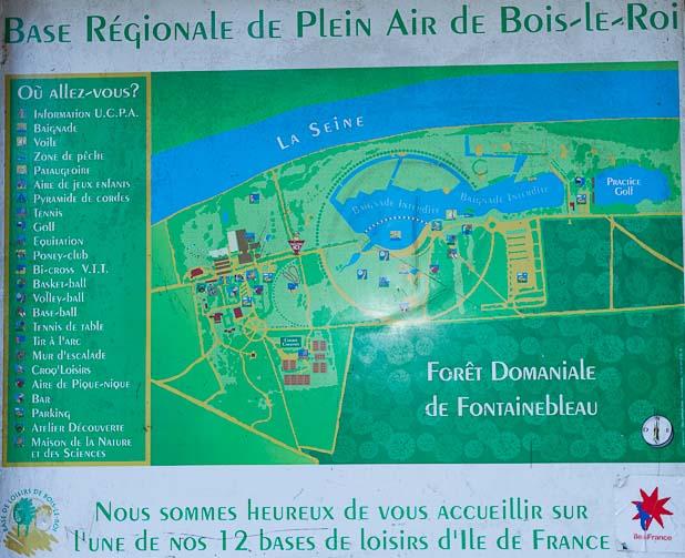 Activités de la base de Loisirs de Bois-le-Roi 77590