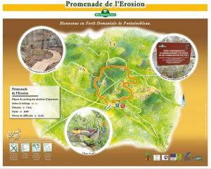 Carte du sentier de l'érosion - Gorge d'Apremon