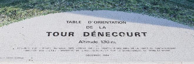 Table d'orientation de la tour Denecourt - Forêt de Fontainebleau