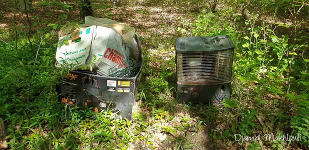 déchets sauvages en forêt de Fontainebleau