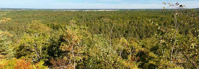 vue du rocher de la vierge (plaine de Chanfroy)