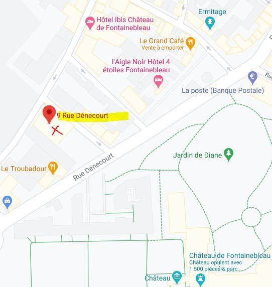 Plan salle des fêtes du théatre municipal Fontainebleau