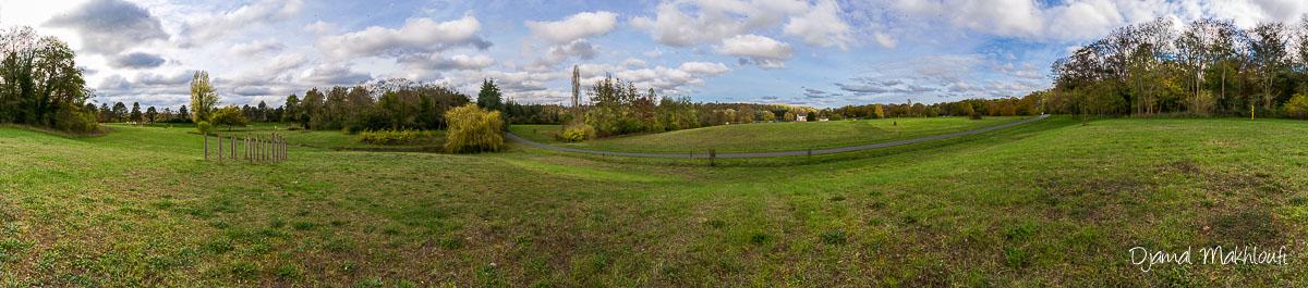 Photo panoramique de l'ile de loisirs de Bois le Roi - Confinement : idées et conseils photo à explorer près de chez vous
